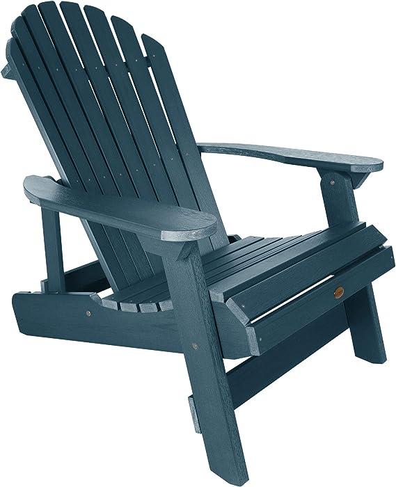Highwood AD-KING1-NBE Hamilton Folding and Reclining Adirondack Chair, King Size, Nantucket Blue