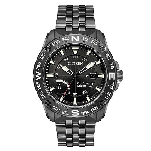 Citizen Reloj de hombre eco-drive correa y caja de acero AW7047-54H: Amazon.es: Relojes