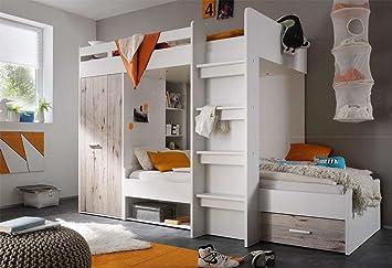 lifestyle4living Hochbett, Jugendzimmer, Kinderzimmer ...
