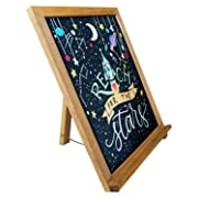 Rustic Chalkboard Sign | 15  x 12  | Smooth Wooden Frame with Non-Porous Magnetic Surface for Home Decor, Kitchen, Wedding, Restaurants & Bar Table Top
