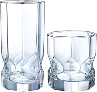 product image for Luminarc Topaz 16 Piece Tumbler Set, 8-16 Ounce Coolers & 8-10 Ounce On The Rocks Glass, 1, Clear