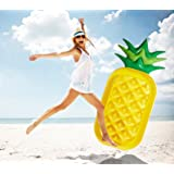 Onnetila Giant Pineapple Pool Float Pool Party Float Raft Summer Outdoor Swimming Pool Inflatable Floatie Lounge Pool Toys for Adults & Kids Pool Loungers
