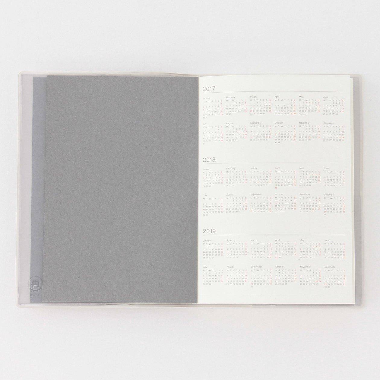 Amazon.com: Muji fino papel reciclado calendario semanal ...