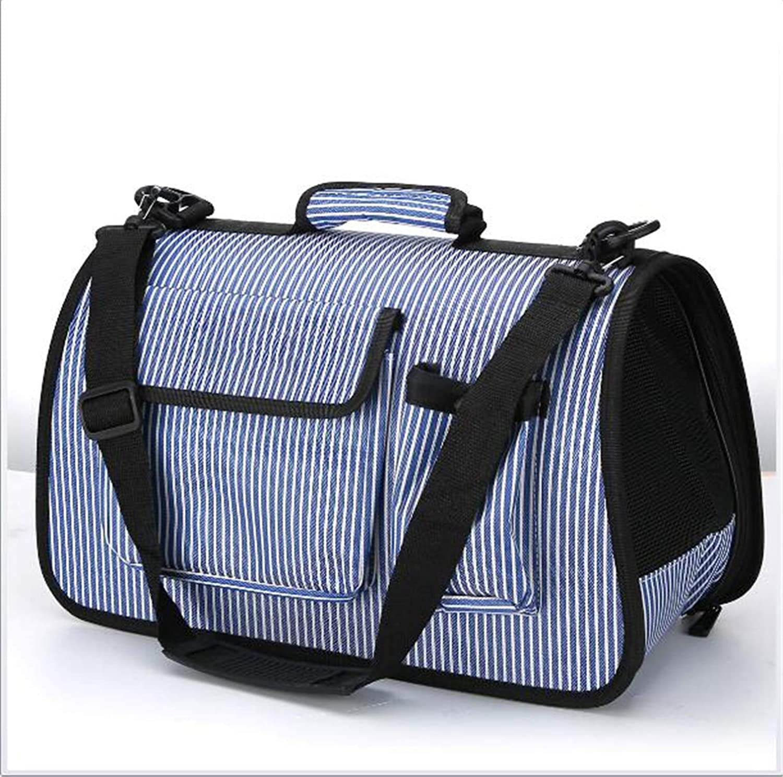 M Dog Backpacks Pet Bag Multi-Function Folding Cat Bag Dog Bag Breathable Portable Travel Light bluee Large Capacity