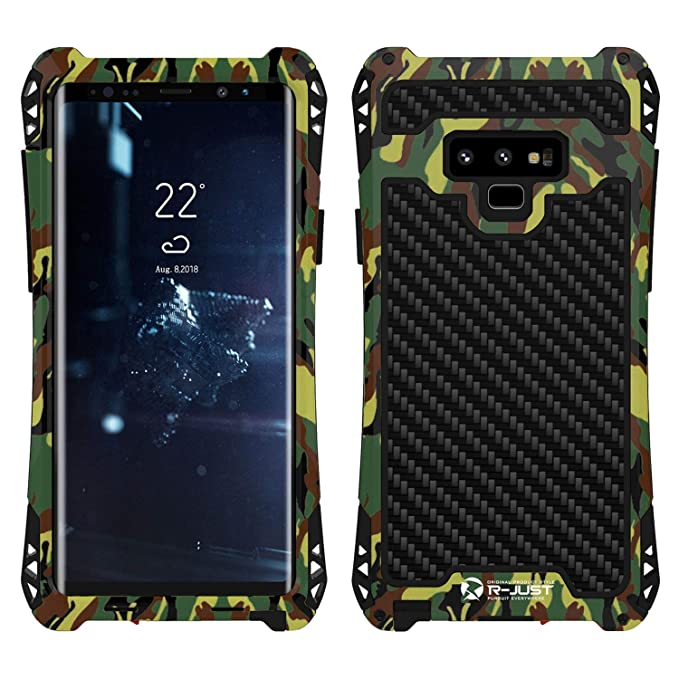 the best attitude 833a0 bd264 Note 9 Case,Simicoo Note 9 Neo Hybrid Aluminum Metal Bumper Military Heavy  Duty Dual Layer Flexible Silicone TPU Carbon Fiber Rugged Hard Shockproof  ...