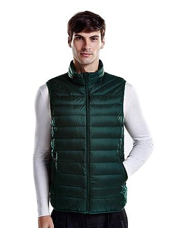 a2cb49e2737 puredown Men s Lightweight Down Packable Puffer Vest at Amazon Men s  Clothing store
