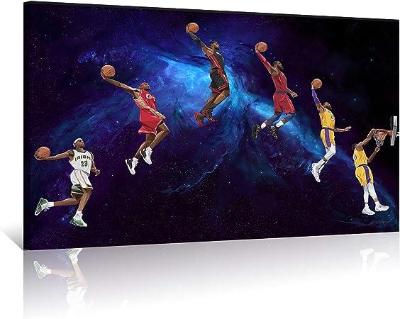 Lebron James Basketball Art Silk Canvas Poster Wall Art Home Decor 24x36 inch