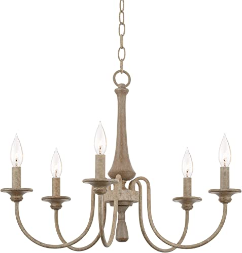 Kira Home Sherbrooke 24″ 5-Light French Country Chandelier