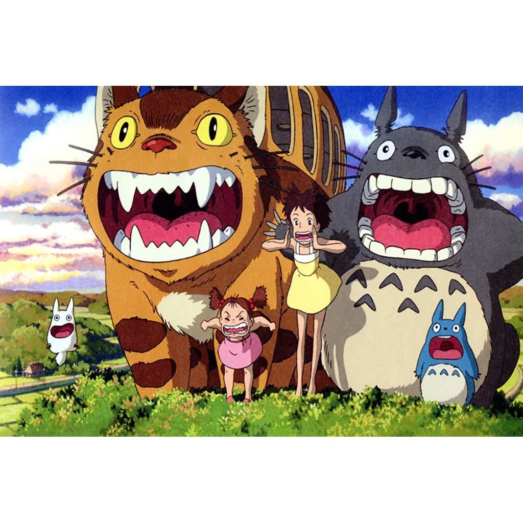 G 500pc Puzzle House – PT Ghibli Studio Obra Maestra Hayao Miyazaki, Puzzle en Bois, Animation Totor Stills Fine Cut & Fit 5004000 pc Art dans boîte à Jouets pour Adultes -0407 2000pc E