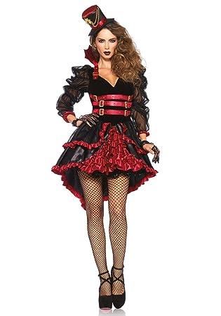 66d40a24d2fab Leg Avenue Costume Vamp Victorienne pour Femme Noir/Rouge Taille S