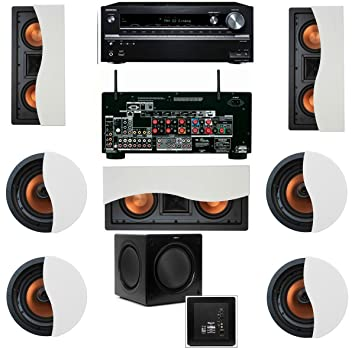 klipsch in wall speakers. klipsch r-5502-w ii in-wall speaker 7.1 sw-310 onkyo in wall speakers d