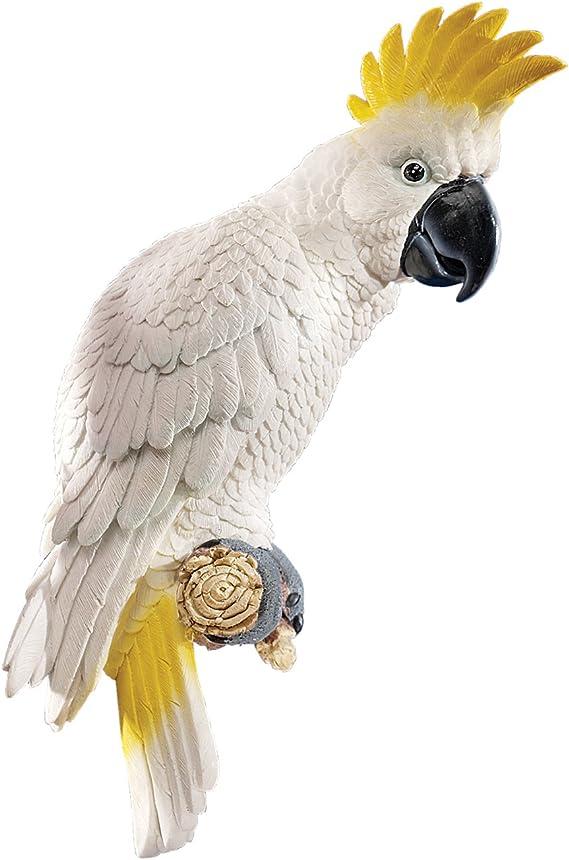 Design Toscano Flapping Macaw Bird Tropical Decor Wall Sculpture 40.5 cm Full Color Polyresin