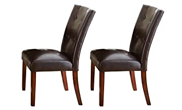 Steve Silver Company Montibello Parsons Chairs With Medium Cherry Legs (Set  Of 2),