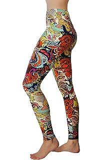 f17585aa48 Comfy Yoga Pants - High Waisted Yoga Leggings with Bohemian Print - Extra  Soft - Dry