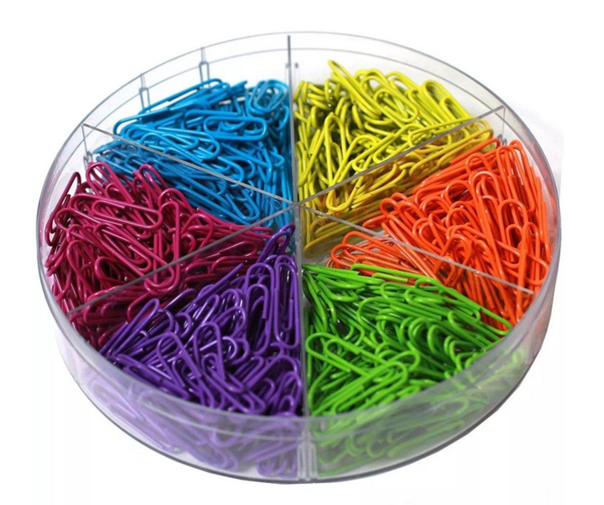 600x chytaii graffette graffette Paper Clip in metallo forniture scolastiche accessori di brureau colore casuale