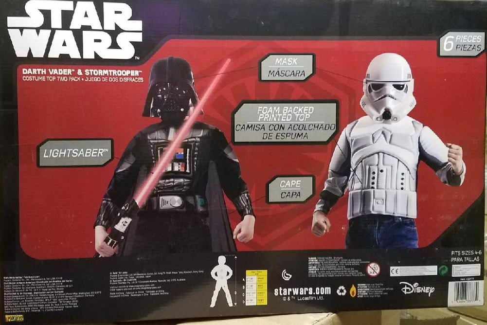Amazon.com: Star Wars Darth Vader & Stormtrooper Costume Play Set: Toys & Games