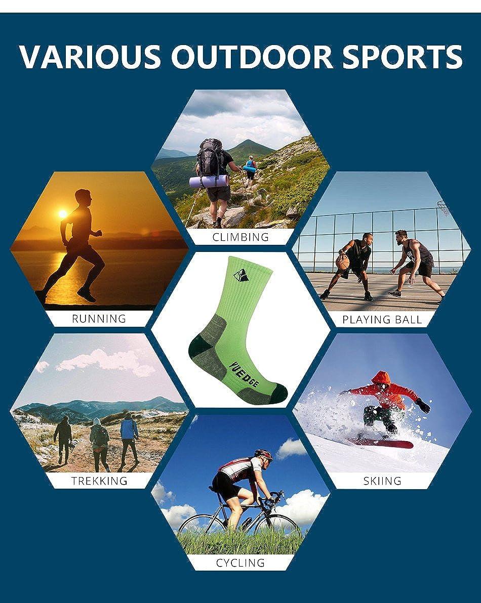 YUEDGE - Calcetines de deporte - para mujer Multicolor Tender Green/Blue/Purple X-Large: Amazon.es: Ropa y accesorios