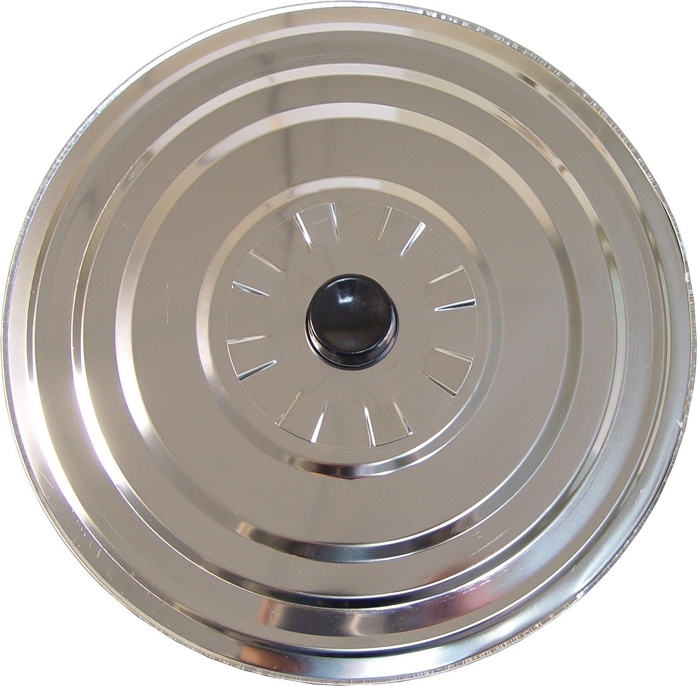 IMEX EL ZORRO El Zorro 61310-Tapadera Aluminio antivaho, diámetro, Acero Inoxidable, Negro, 28 cm