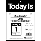 """AT-A-GLANCE Daily Wall Calendar, January 2018 - December 2018, 6"""" x 6"""", """"Today Is"""" Design (K100)"""