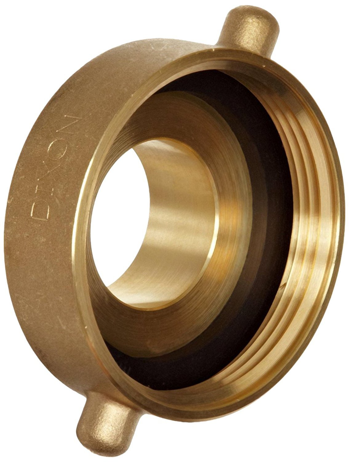 Campbell Fittings HA3025F Hydrant Adapter, 3'' ID, Brass, 3'' NST x 2-1/2'' NST