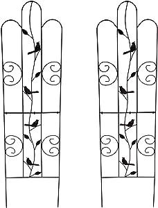 "1. GO Metal Garden Trellis Panel Arch for Climbing Plants, 2 Set, 16"" Wide x 60"" High, OG-0032KD-2"