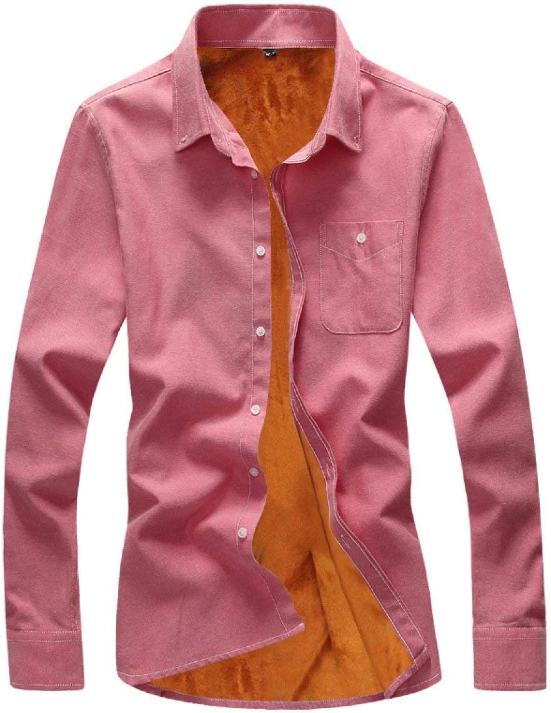 Yisaesa Camisa de Manga Larga de Terciopelo para Hombre ...