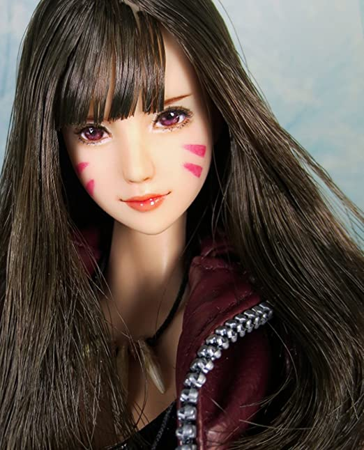 Anime Style 100/% Handmade /& Customized Makeup HiPlay 1//6 Scale Female Figure Head Sculpt Beauty Charming Girl Doll Head for 12 Action Figure TBLeague//Obitsu//JIAOU CDH54 Natural Skin