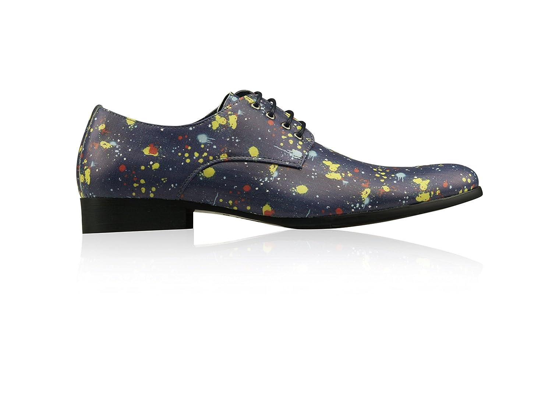 Lureaux Paint Dark Blau Herrenschuhe Herren Lederschuhe Uniform Berufsschuhe Elegant Businessschuhe Lederschuhe Herren Hochzeit Schuhe für Männer Oxford Derby - 95adf0
