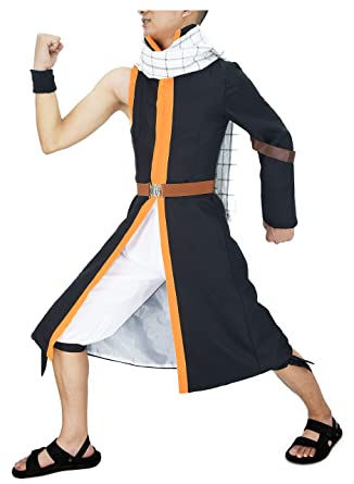 Amazon Com Dazcos Us Size Anime Cosplay Natsu Dragnee Costume With