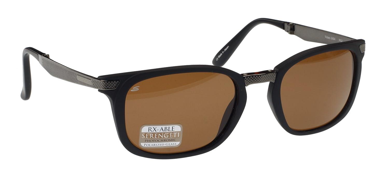 Serengeti Volare plegable gafas de sol, antirreflectante, mate negro/gunmetal, controladores de marrón fotocromáticos polarizadas lente de cristal: ...