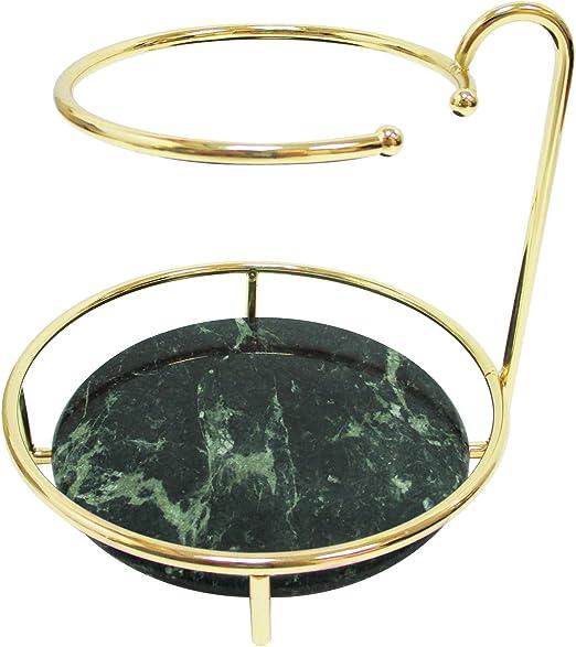Amazon Com Marbillum Green Marble Short Jewelry Stand Necklace Holder Home Kitchen