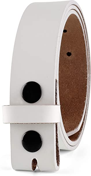 ONE PIECE  SOLID GENUINE LEATHER BELT REMOVABLE BUCKLE BLACK BROWN MADE IN USA