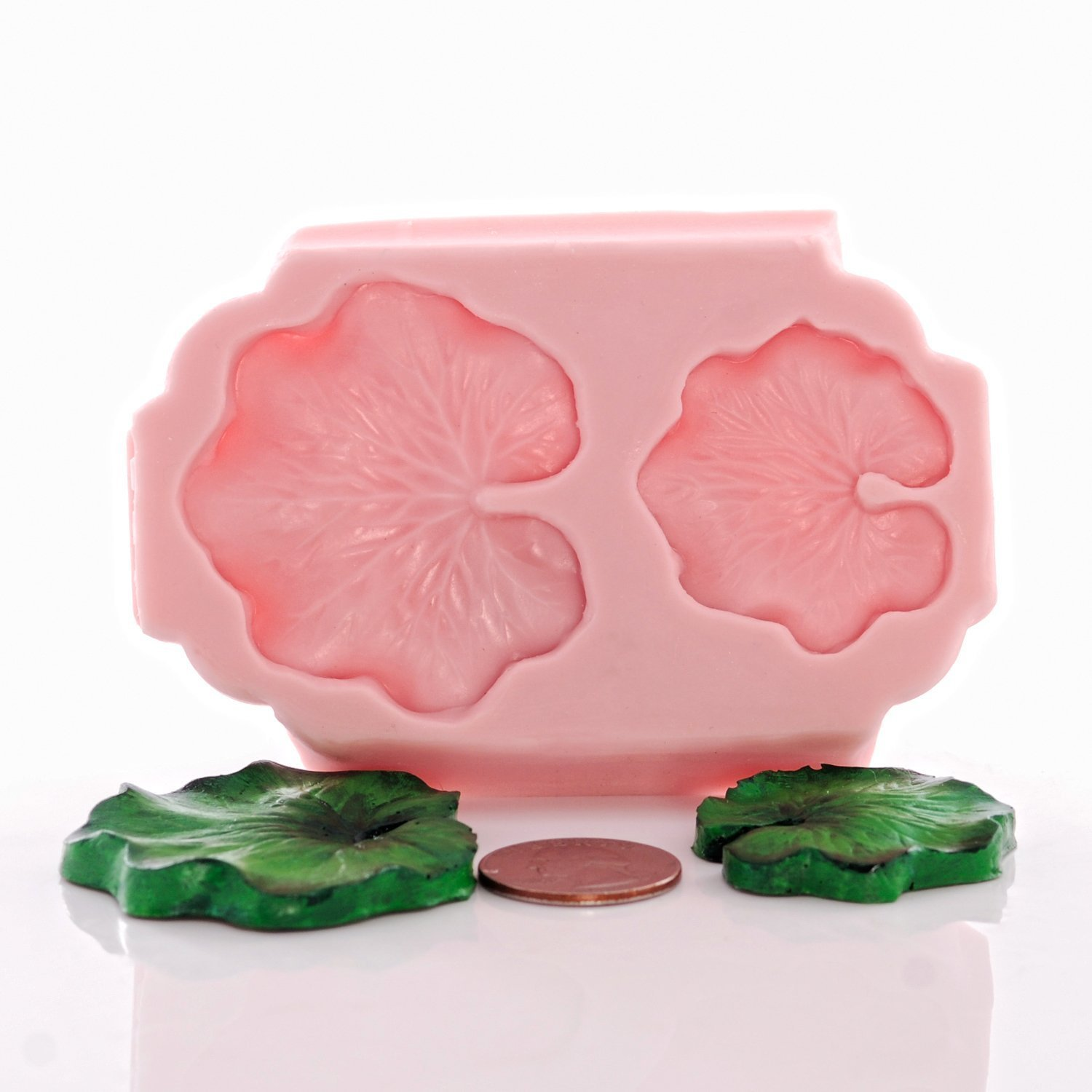 Lily Pad Flexible Silicone Mold, Fondant, Candy, Chocolate, Food