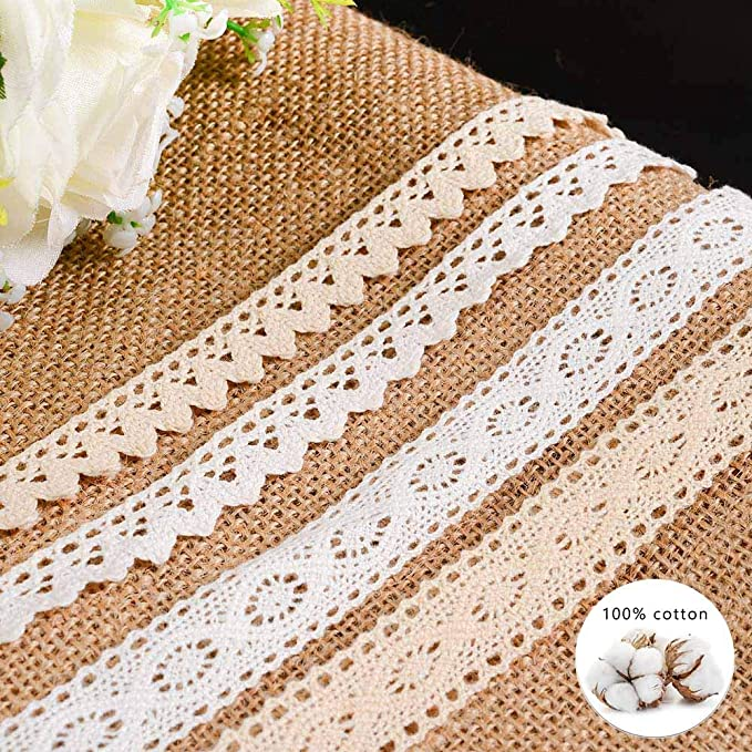 20 yard 2cm 0.78 width small fence floral diy craft white cotton lace trim ribbon 1014365L4K420 free ship