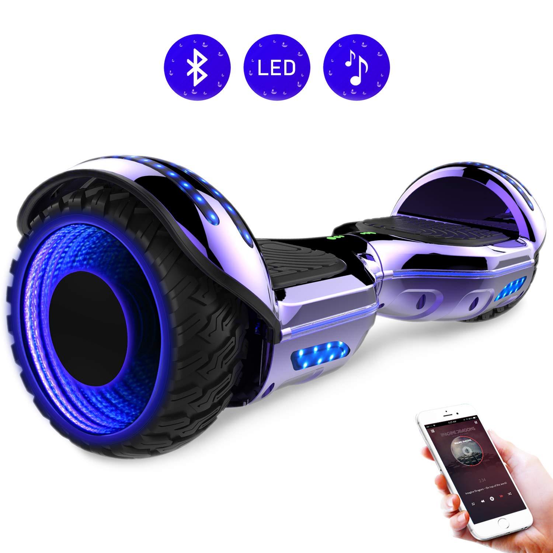 RCB Gyropode 6.5 Pouces Scooter Electrique Auto-Equilibr/é Hoverboardboard avec Roues Clignotantes Bluetooth int/égr/é pour Ados et Enfants
