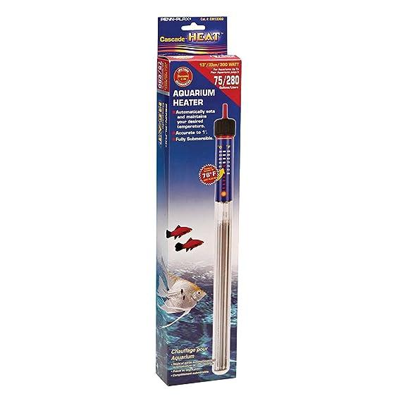 Penn-Plax completamente sumergible Acuario Calentador 1 grado de precisión 75 W calienta hasta 15 Gallon Tank: Amazon.es: Productos para mascotas