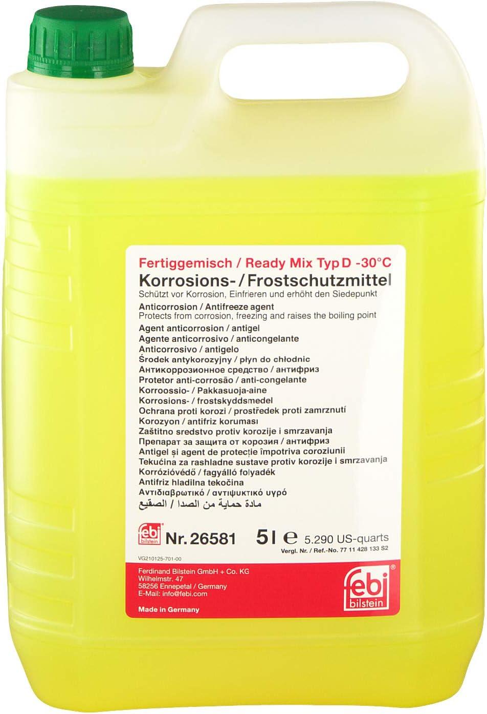 Febi Bilstein 26581 Frostschutzmittel Ready Mix 30 C 5 Liter Auto