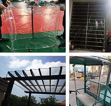 PergolaLona Impermeable de PVC Transparente Anti-Intemperie, Aislamiento Lona Exterior Cubiertas de Suelo Cubiertas de Tela Cobertizo, 500 g / M2,3 * 4m: Amazon.es: Hogar