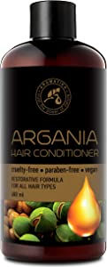 Conditioner for All Hair Types 16.2 oz - Natural Argan Oil & Olive Oil - Restorative Formula - Hair Care - Sulfate Free