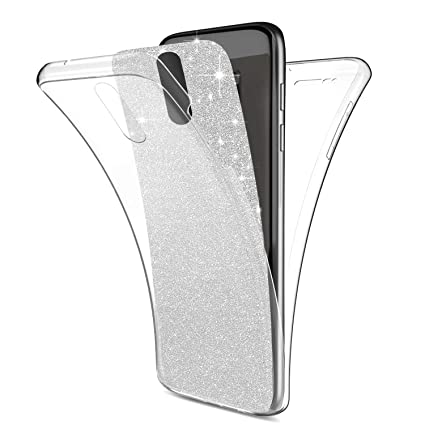 Funda Huawei Mate 10 Lite,Carcasa Huawei Mate 10 Lite,Brillantes Lentejuelas Estrella Brillo Transparente TPU Silicona 360°Full Body Fundas Skin Cover ...