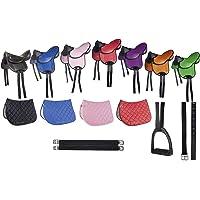 HKM – Juego de sillín de monta - principiantes, negro