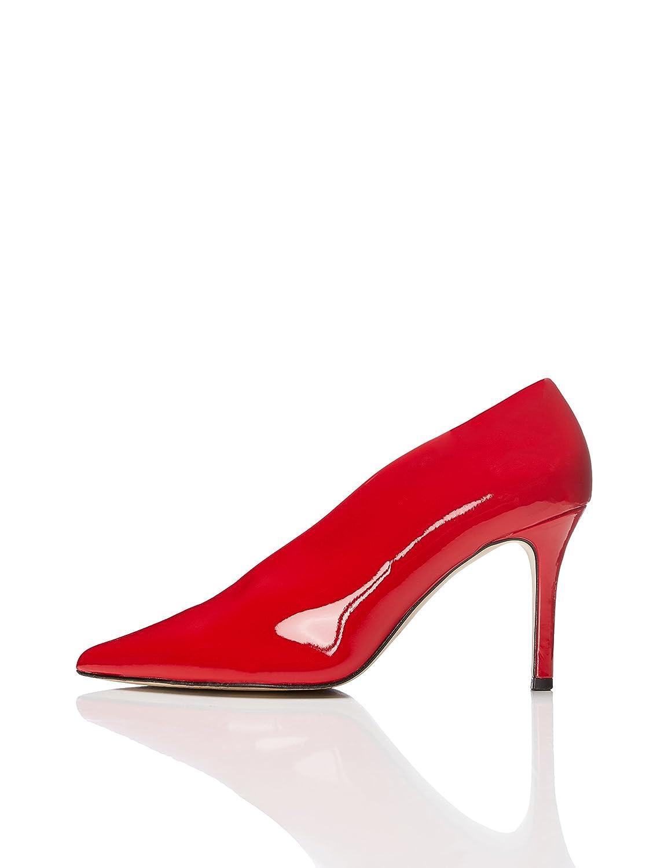 FIND Zapatos de Charol y Empeine Alto para Mujer