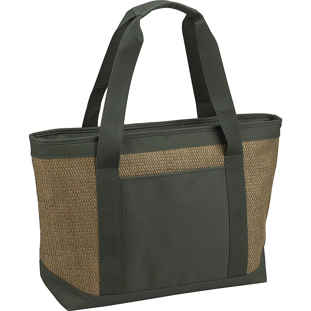 Picnic at Ascot 346-FO Eco Large Insulated Tote in Natural / Forest Grün