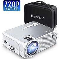 Projecteur BOMAKER 3600 Lumens Native 720p Mini Vidéoprojecteur Prise en Charge Full HD 1080p de 50000 Heures Rétroprojecteur Compatible avec Étui de Transport - GC555