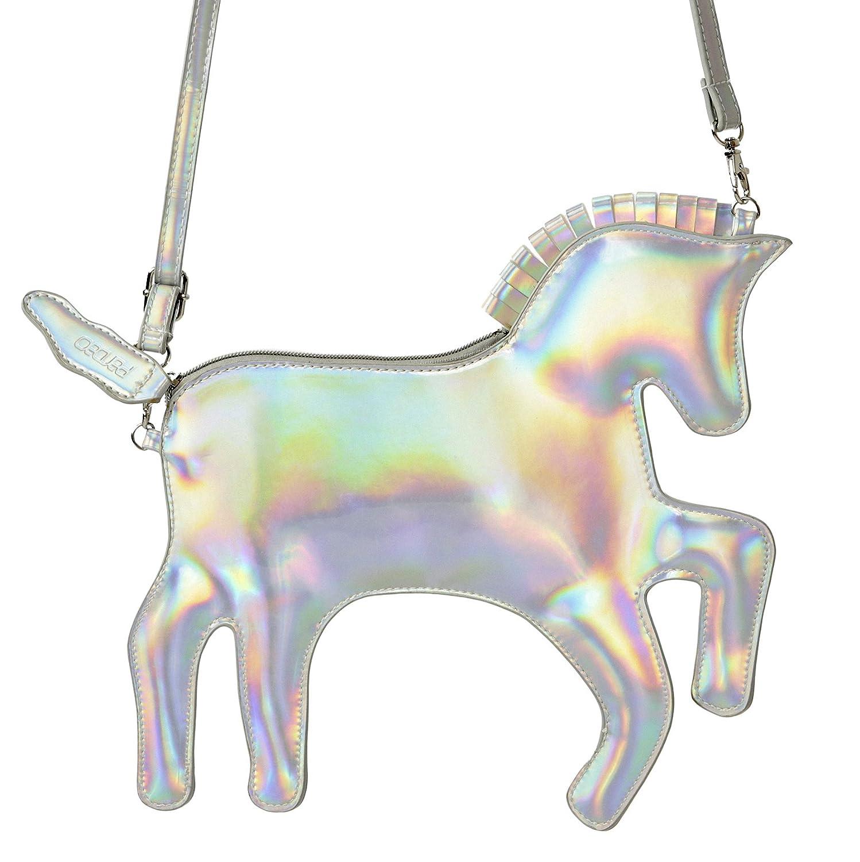 Pardao Borsetta unicorno – Miglior regalo per bambine – borsa a tracolla formale e casual (Argento) Variation