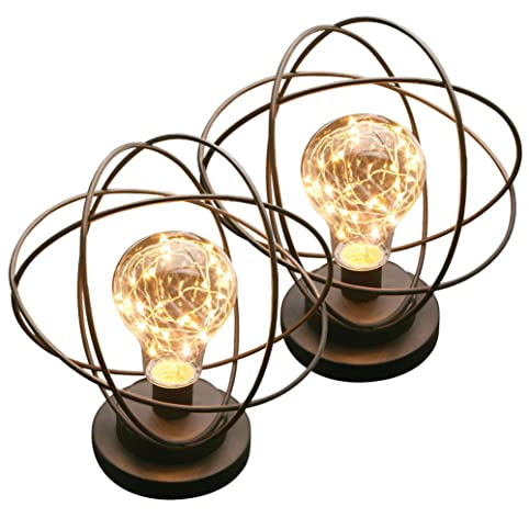 Atomic Age Wireless Led Metal Accent L& - Set Of 2  sc 1 st  Amazon.com & Atomic Age Wireless Led Metal Accent Lamp - Set Of 2 - - Amazon.com