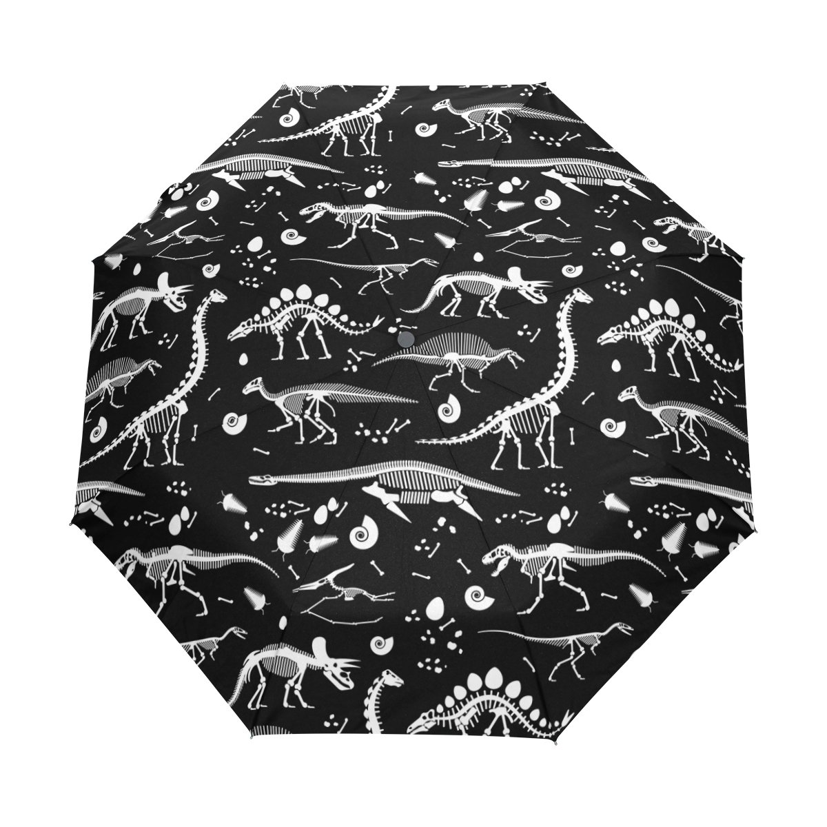 WIHVE Dinosaur Skeleton Umbrella Auto Open Close Windproof Compact
