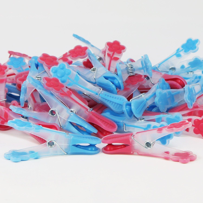 Grapas para una sujeci/ón Segura de su Ropa com-four/® 40x Grapas de lavander/ía con Softgrip 040 Piezas - Softgrip