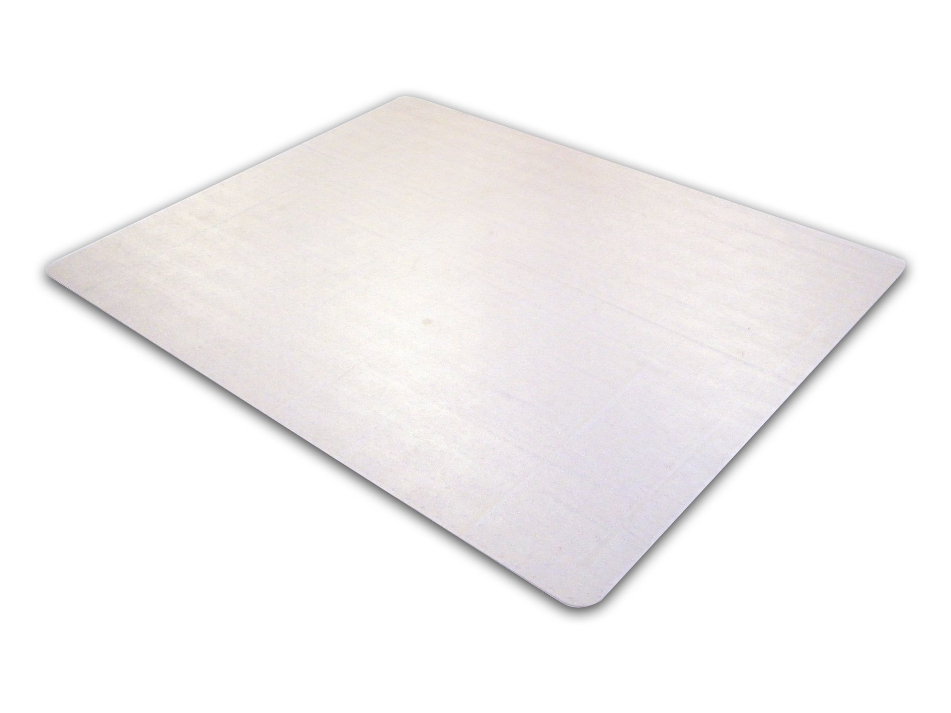 Cleartex Advantagemat, PVC Clear Chair Mat for Low Pile Carpets (1/4'' or Less), Rectangular, Size 48'' x 79'' (FR1120025EV)