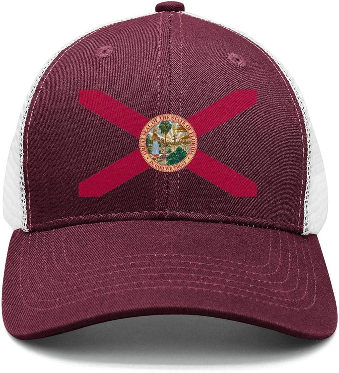 AkrCreative Florida State Flag Shield II Logo Men//Women Best Hip Hop Hats Sports Cap